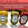 the upside down ketchup bottle