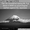 the usa planned to dye mt fuji black wtf fun