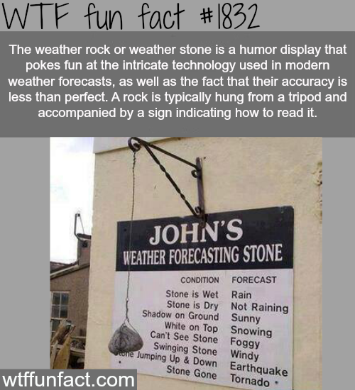 The weather rock - WTF fun facts
