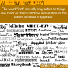 the word font and typeface