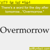 the word for after tomorrow wtf fun fact