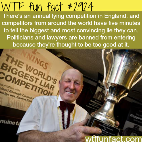 The world's biggest liar competition -  WTF fun facts