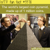 the world s largest coin pyramid
