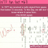 the wow signal 1977 wtf fun facts