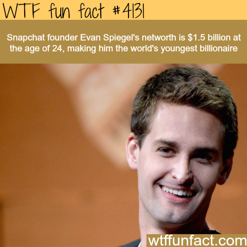 The youngest billionaire in the world -  WTF fun facts