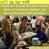 things that homeless shelter needs wtf fun facts