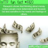 thinking about money wtf fun facts
