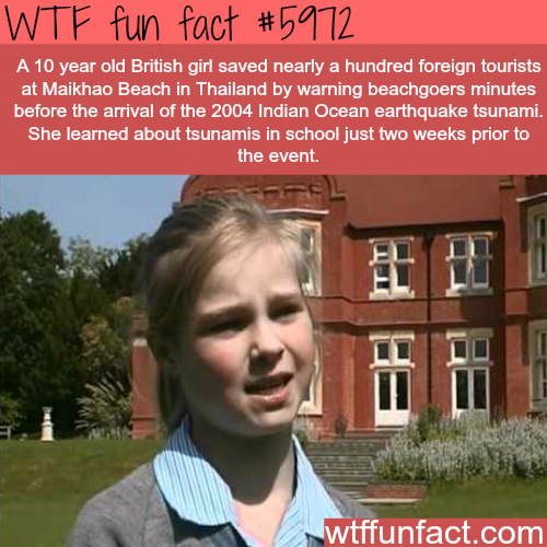 This 10 years old girl saved 100s of tourists from tsunami - WTF fun facts