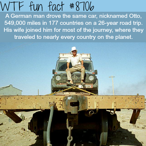 This man drove the entire planet in the same car - WTF fun facts