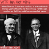thomas edison and henry ford wtf fun fact