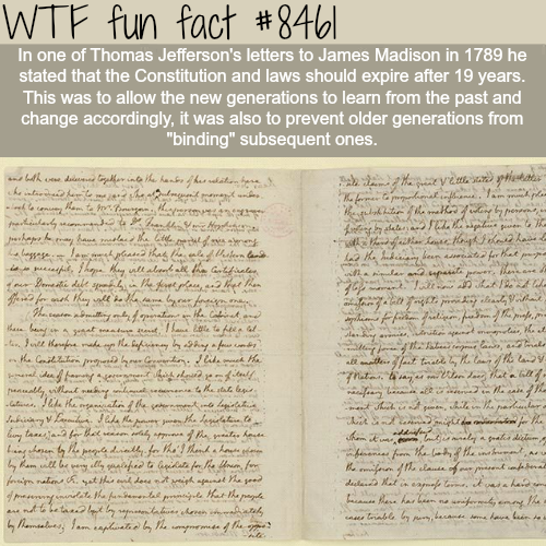 Thomas Jefferson's letters to James Madison - WTF fun facts
