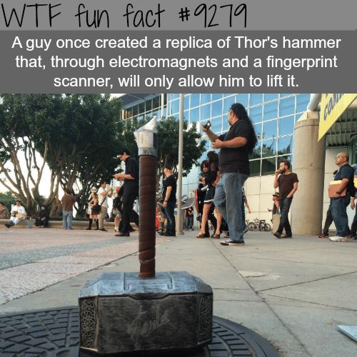 Thor's Hammer Replica - WTF fun fact