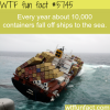 thousands of containers fall of ships each year