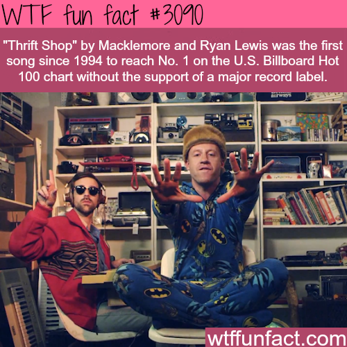 """Thrift Shop"" by Macklemore  an Ryan Lewis -  WTF fun facts"