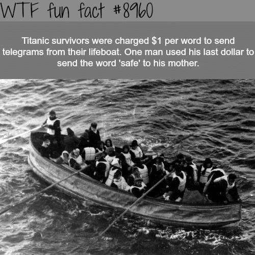Titanic survivors - WTF fun facts
