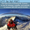 total cost of climbing mount everest wtf fun