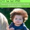 traces of gold can be found in baby hair wtf fun