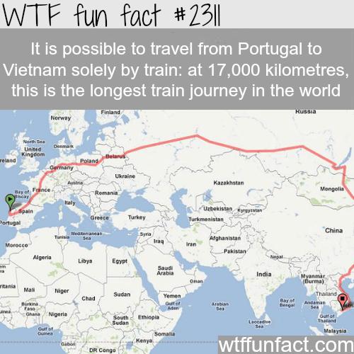 Longest train journey -WTF funfacts