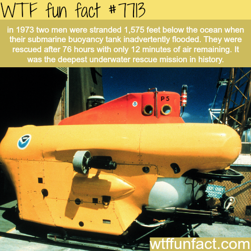 Two men stranded below the ocean for three days - WTF fun facts