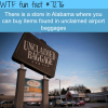 unclaimed baggage center wtf fun fact