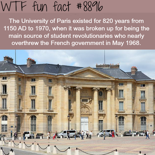University of Paris - WTF fun facts