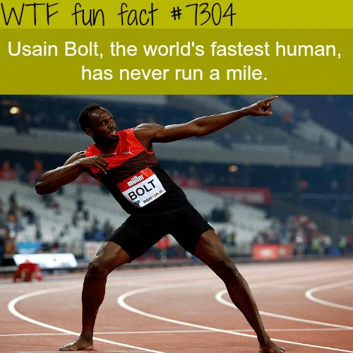 Usain Bolt never ran a mile - WTF fun fact