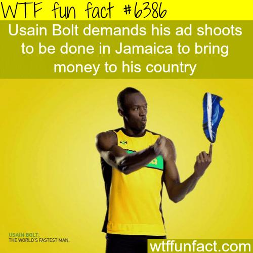 Usain Bolt's ads - WTF fun facts
