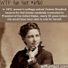 victoria woodhull the first female candidate