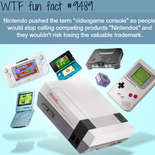 Video Game Console - WTF fun fact