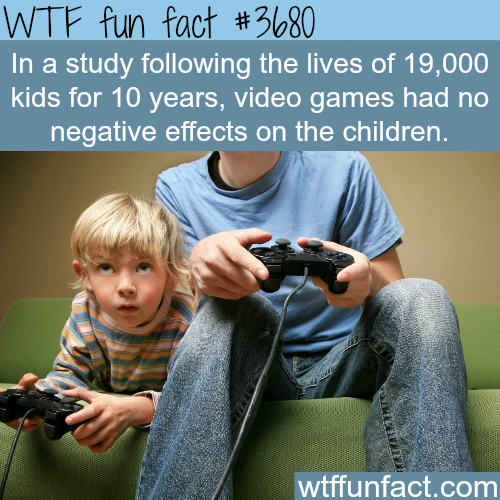 Video games and the cause of violence - WTF fun facts
