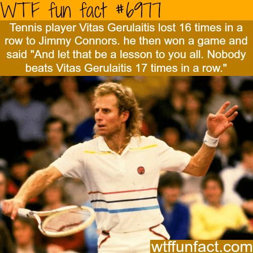 Vitas Gerulaitis - WTF fun fact