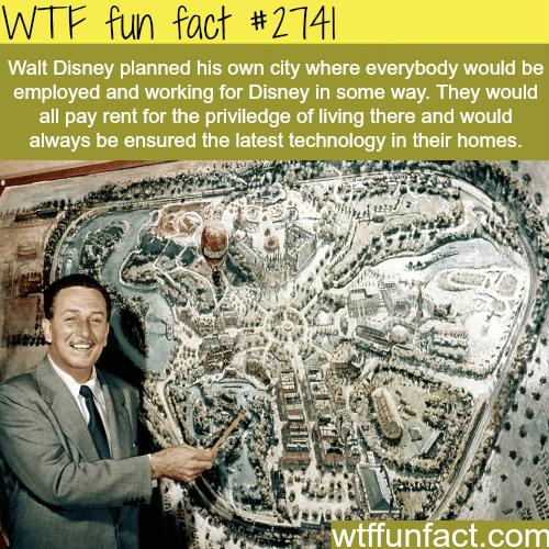 Walt Disney Ideas for Disney Land City -WTF funfacts