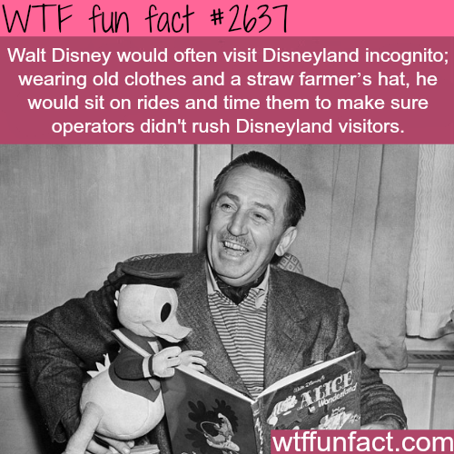 Walt Disney Incognito in Disneyland - WTF fun facts