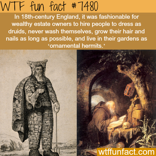 Wealthy English people had 'ornamental hermits' in their gardens - FACTS