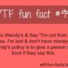 wendy free food