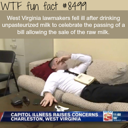 West Virginia lawmakers fell sick after they passed this law - WTF fun facts