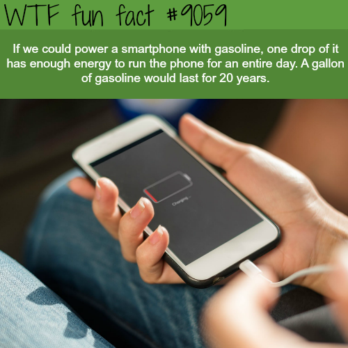What if you could power your iphone with gasoline - WTF fun fact