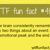 what your brain remembers about an event