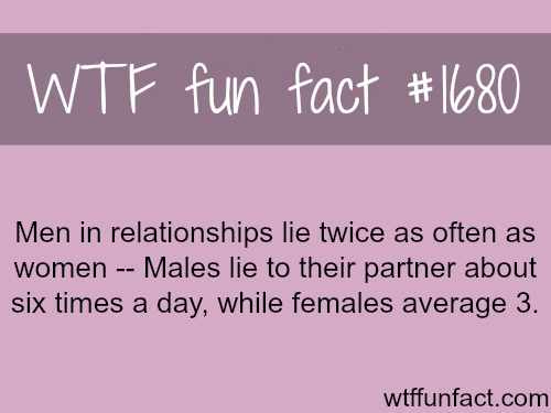 Who lies the more in a relationship