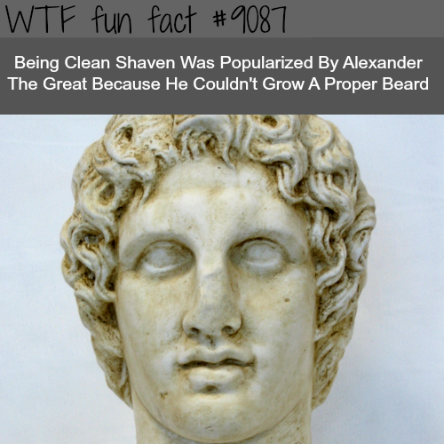 Who popularized being clean shaved - WTF fun fact