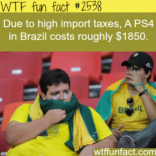 Why are PS4 so expensive in Brazil?