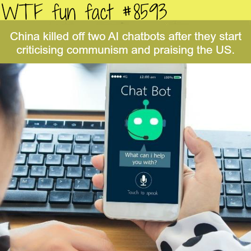 Why China killed off two AI chatbots - WTF fun facts