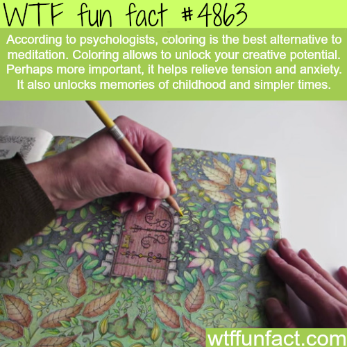 Why coloring is good for you - WTF fun facts