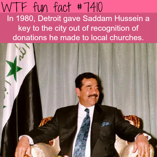 Why Detroit gave Saddam Hussein the key to the city - FACTS