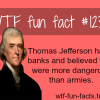 why did thomas jefferson hate banks