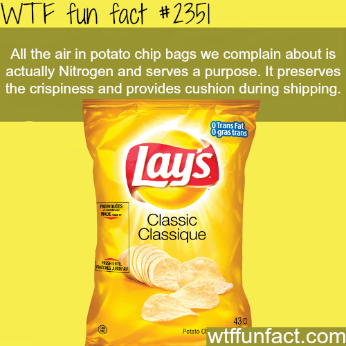 Why do potato chip bags have a lot of air? -WTF funfacts