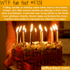 why do we put candles on birthday cakes wtf fun