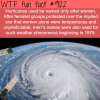 why hurricanes are named after females wtf fun