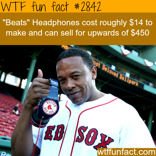 Why is the price for Beats by Dr. Dre expensive? -WTF fun facts