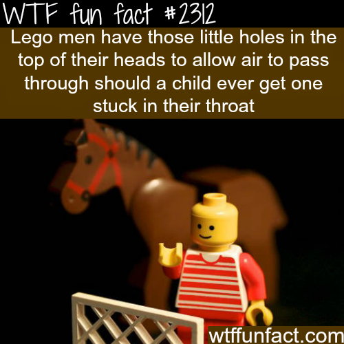 Why lego men have holes in their head -WTF funfacts